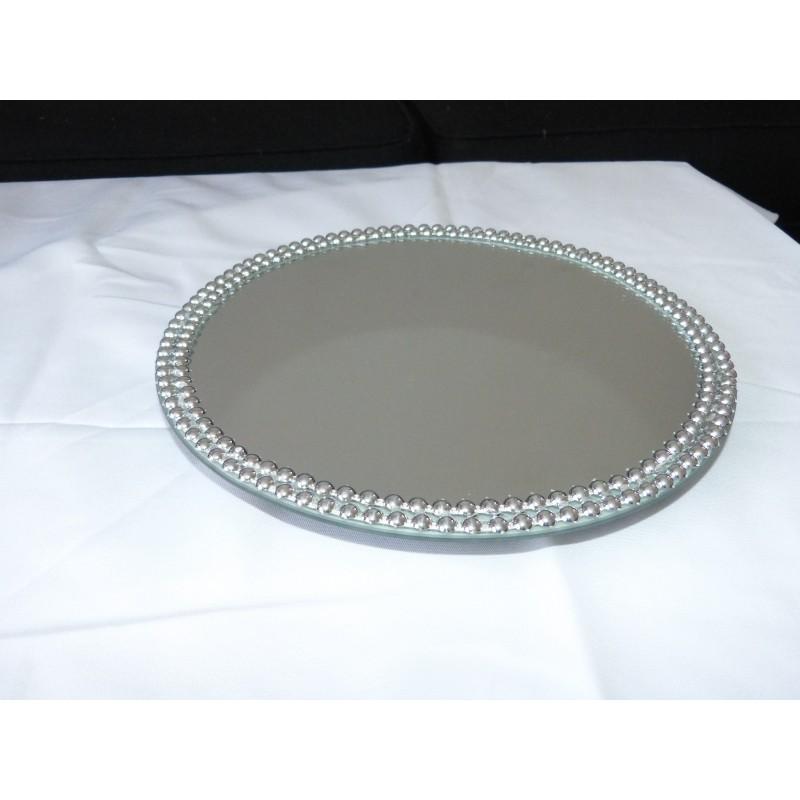 Miroir rond perle for Miroir rond 30 cm