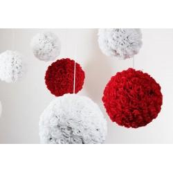 Boule de rose D30 blanche