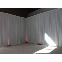 Rideau blanc sans led
